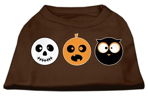 The Spook Trio Screen Print Dog Shirt Brown Sm (10)